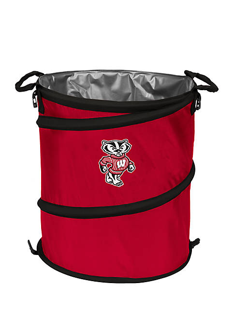 Logo NCAA Wisconsin Badgers Collapsible 3-in-1 Cooler Hamper