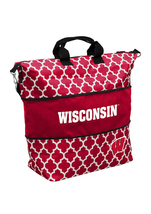 Logo NCAA Wisconsin Badgers Expandable Tote Bag
