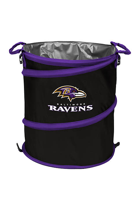 Logo NFL Baltimore Ravens Collapsible 3-in-1 Cooler Hamper