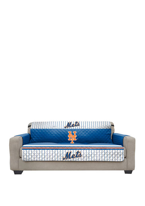 MLB New York Mets Sofa Furniture Protector With Elastic Straps