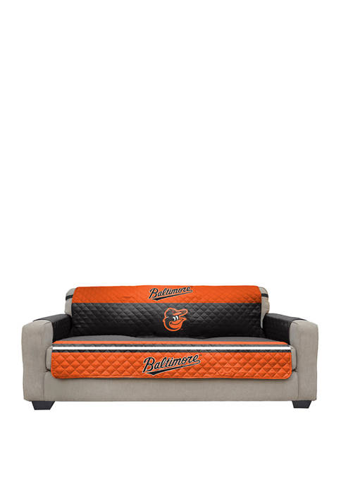 MLB Baltimore Orioles Sofa Furniture Protector With Elastic Straps