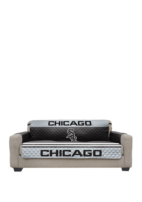 MLB Chicago White Sox Sofa Furniture Protector With Elastic Straps