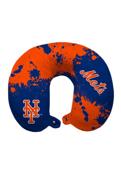 MLB New York Mets Splatter Print Travel Pillow