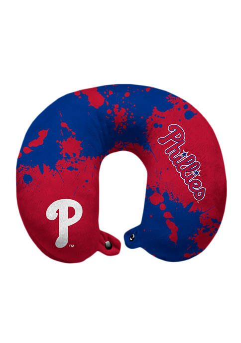 MLB Philadelphia Phillies Splatter Print Travel Pillow