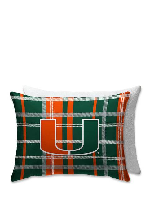 Pegasus Sports NCAA Miami (FL) Hurricanes Plaid 20