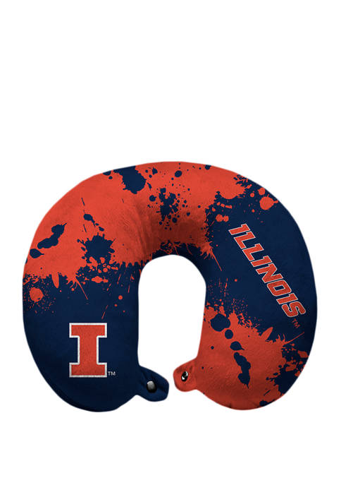 Pegasus Sports NCAA Illinois Fighting Illini Splatter Print