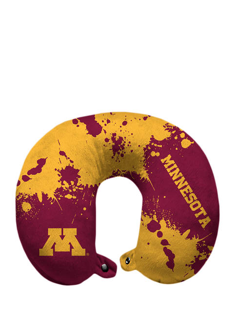 NCAA Minnesota Golden Gophers Splatter Print Travel Pillow