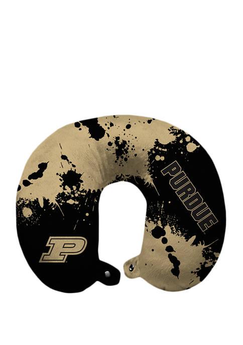 NCAA Purdue Boilermakers Splatter Print Travel Pillow