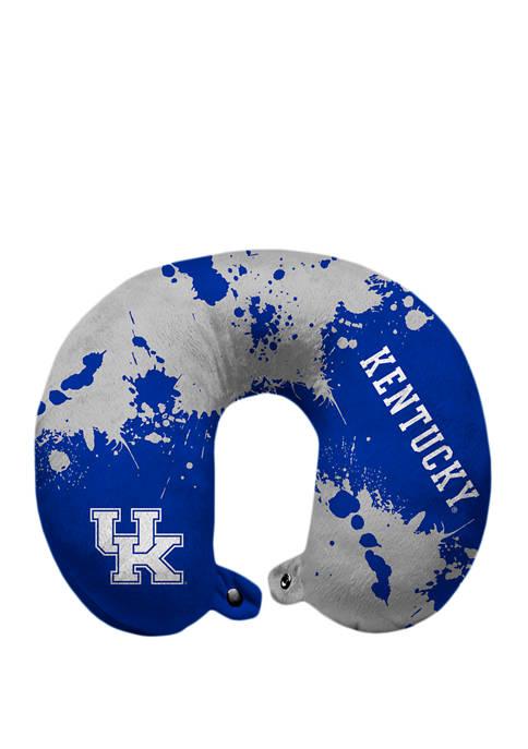 NCAA Kentucky Wildcats Splatter Print Travel Pillow