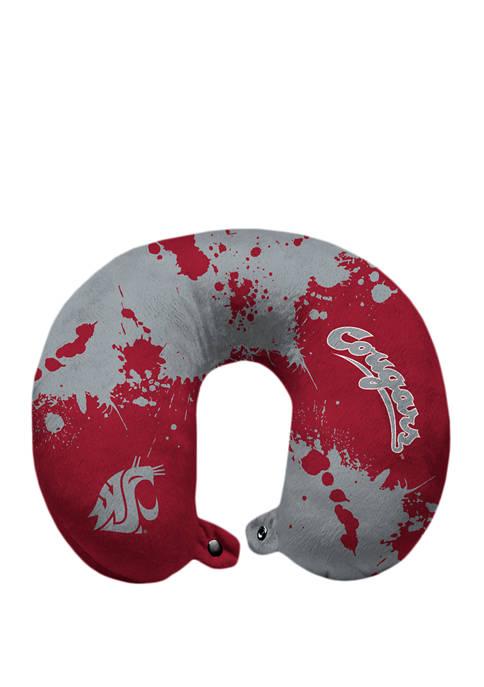 NCAA Washington State Cougars Splatter Print Travel Pillow