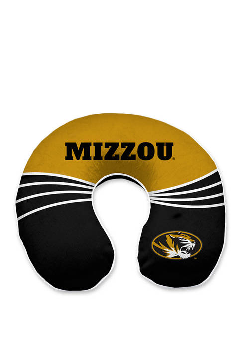 NCAA Missouri Tigers Wave Memory Foam U Neck Travel Pillow