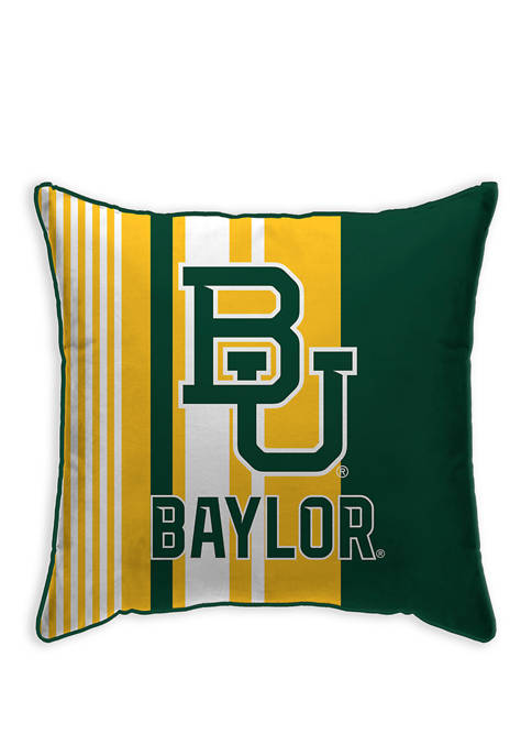 NCAA Baylor Bears Variegated Stripe 18 in x 18 in Decorative Pillow