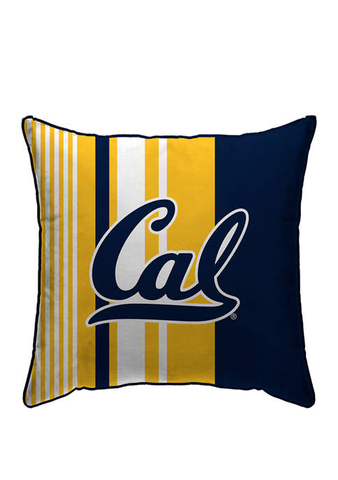 NCAA California Golden Bears Variegated Stripe 18 in x 18 in  Decorative Pillow
