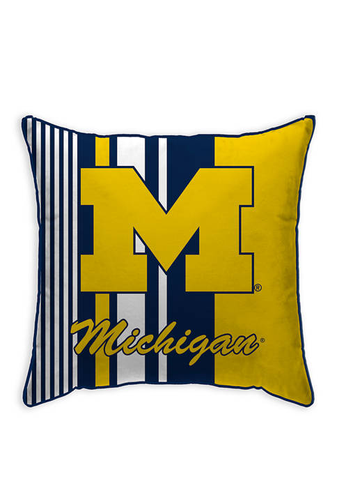 NCAA Michigan Wolverines Variegated Stripe 18 in x 18 in Decorative Pillow