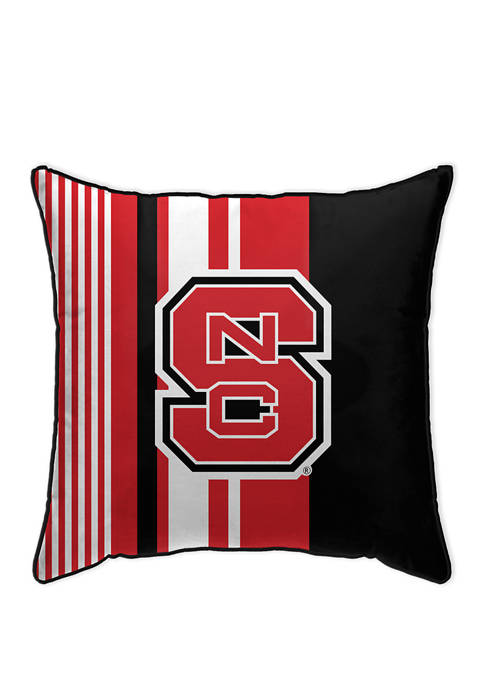 """NCAA NC State Wolfpack Varigated Stripe 18X18"""" Decorative Pillow"""