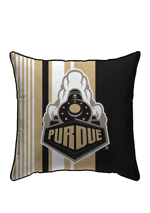 NCAA Purdue Boilermakers Variegated Stripe 18 in x 18 in Decorative Pillow