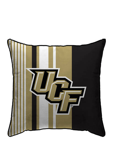 NCAA Central Florida Knights Variegated Stripe 18 in x 18 in  Decorative Pillow