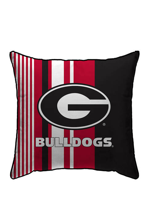NCAA Georgia Bulldogs Variegated Stripe 18 in x 18 in Decorative Pillow