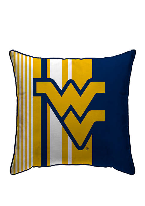NCAA West Virginia Mountaineers Variegated Stripe 18 in x 18 in  Decorative Pillow