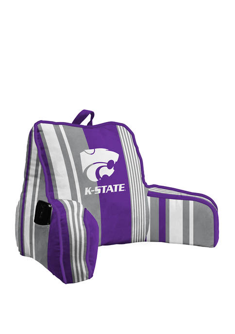 NCAA Kansas State Wildcats Variegated Stripe Backrest with Cording and Side Pocket