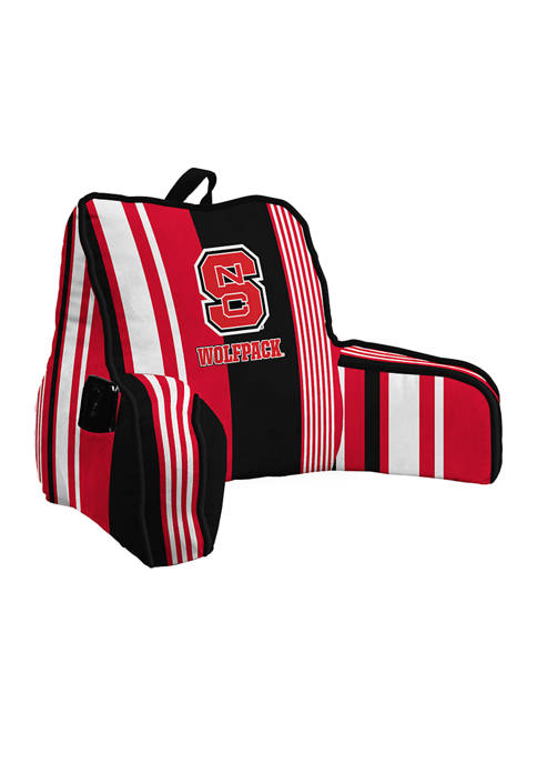 NCAA NC State Wolfpack Variegated Stripe Backrest with Cording and Side Pocket