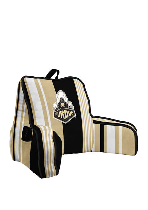 NCAA Purdue Boilermakers Variegated Stripe Backrest with Cording and Side Pocket