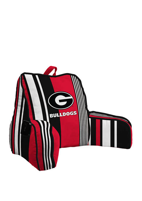 NCAA Georgia Bulldogs Variegated Stripe Backrest with Cording and Side Pocket