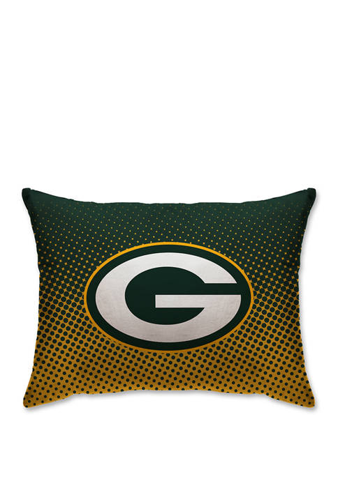 NFL Green Bay Packers Microfiber Dot 20 in x 26 in Bed Pillow