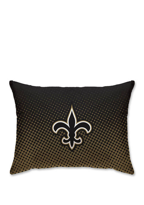 NFL New Orleans Saints Microfiber Dot 20 in x 26 in Bed Pillow