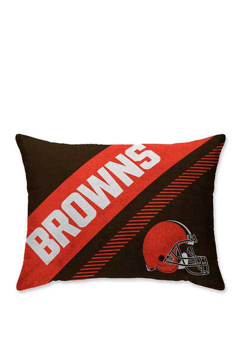 NFL Cleveland Browns Diagonal Microplush 20 in x 26 in Bed Pillow