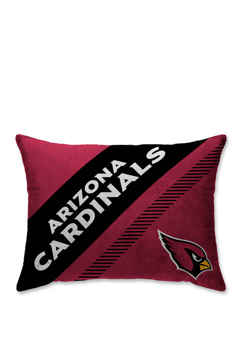 NFL Arizona Cardinals Diagonal Microplush  20 in x 26 in Bed Pillow