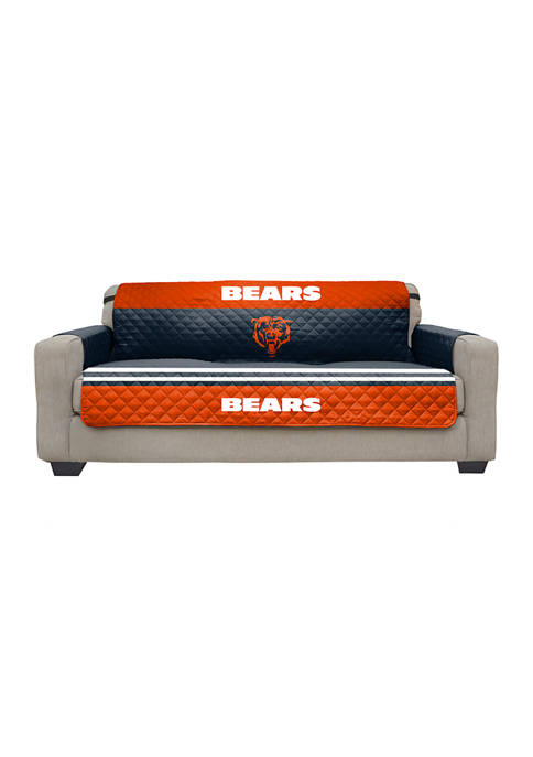 NFL Chicago Bears Sofa Furniture Protector with Elastic Straps