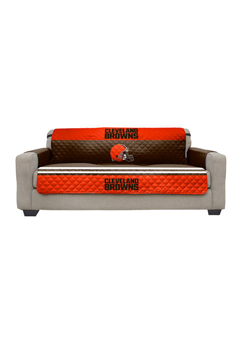NFL Cleveland Browns Sofa Furniture Protector with Elastic Straps