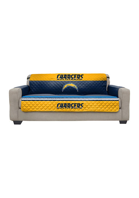 NFL Los Angeles Chargers Sofa Furniture Protector with Elastic Straps