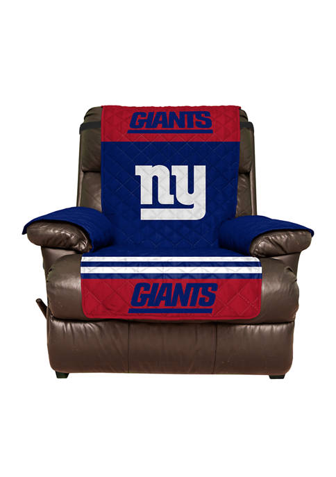 NFL New York Giants Recliner Furniture Protector with Elastic Straps