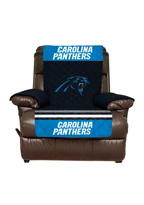 NFL Carolina Panthers Recliner Furniture Protector with Elastic Straps