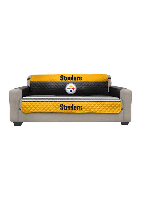 NFL Pittsburgh Steelers Sofa Furniture Protector with Elastic Straps