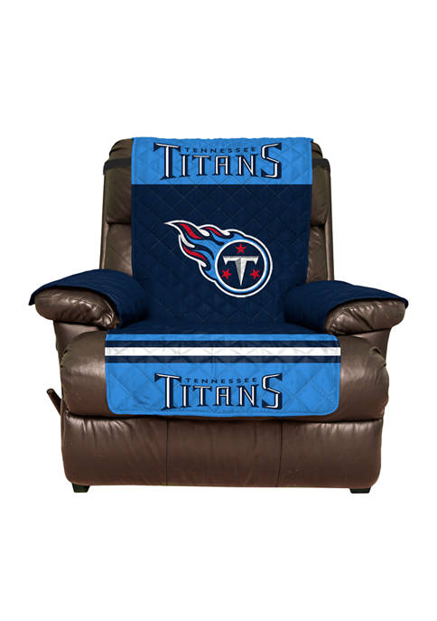 NFL Tennessee Titans Recliner Furniture Protector with Elastic Straps