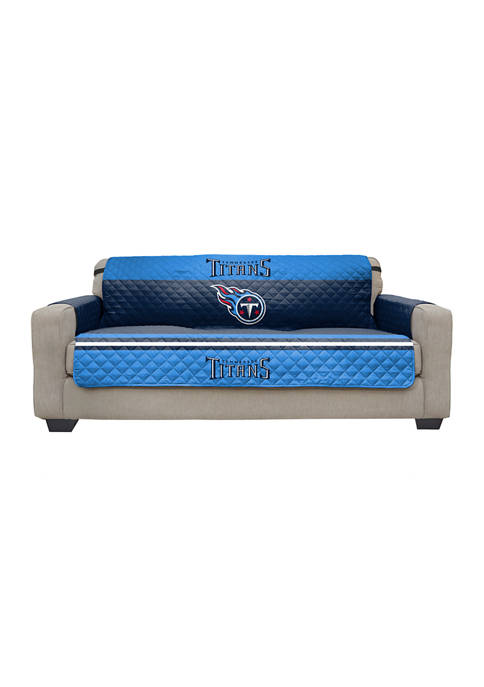 NFL Tennessee Titans Sofa Furniture Protector with Elastic Straps