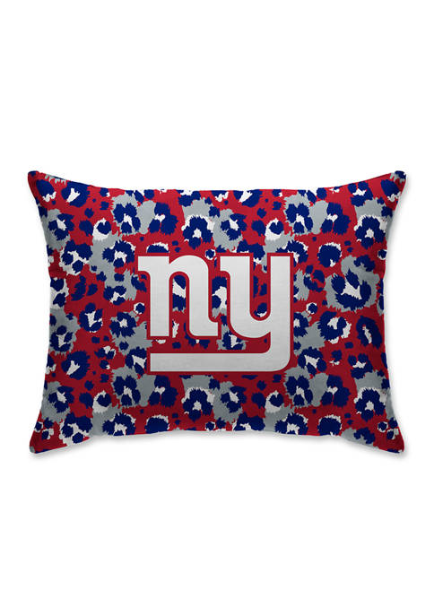 "NFL New York Giants Leopard Microplush 20X26"" Bed Pillow"