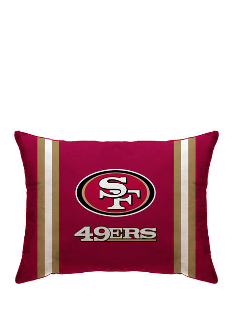 NFL San Francisco 49ers Microplush Standard Logo 20 in x 26 in Bed Pillow