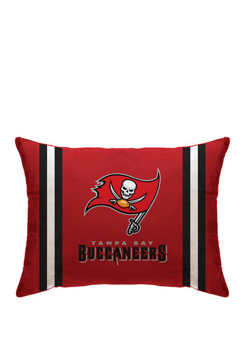 NFL Tampa Bay Buccaneers Microplush Standard Logo 20 in x 26 in Bed Pillow