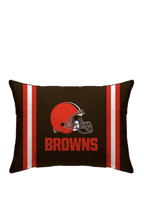 NFL Cleveland Browns Microplush Standard Logo 20 in x 26 in Bed Pillow