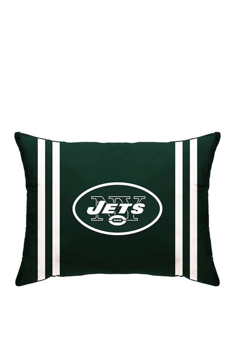 NFL New York Jets Microplush Standard Logo 20 in x 26 in Bed Pillow