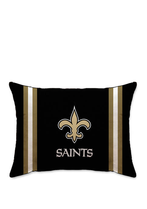 NFL New Orleans Saints Microplush Standard Logo 20 in x 26 in Bed Pillow
