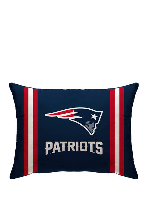 NFL New England Patriots Microplush Standard Logo 20 in x 26 in Bed Pillow