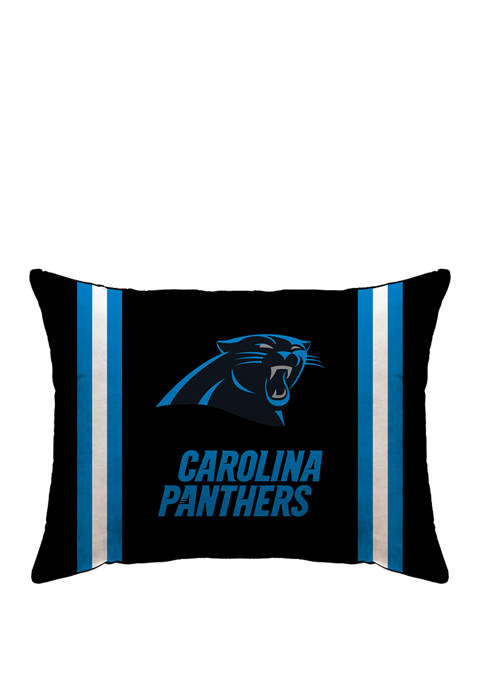 NFL Carolina Panthers Microplush Standard Logo 20 in x 26 in Bed Pillow