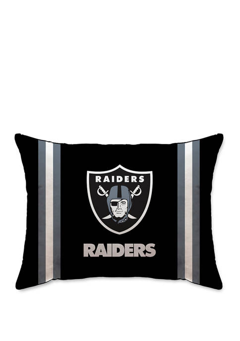 NFL Oakland Raiders Microplush Standard Logo 20 in x 26 in Bed Pillow