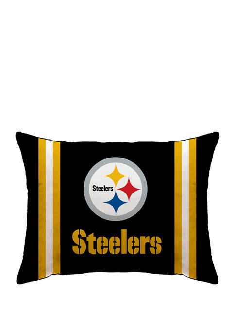 NFL Pittsburgh Steelers Microplush Standard Logo 20 in x 26 in Bed Pillow