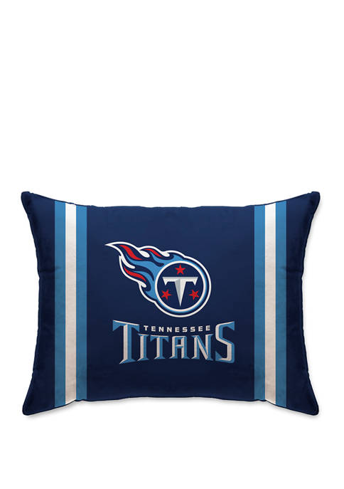 NFL Tennessee Titans Microplush Standard Logo 20 in x 26 in Bed Pillow